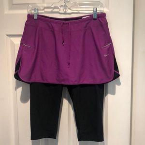 Nike workout pants with skirt